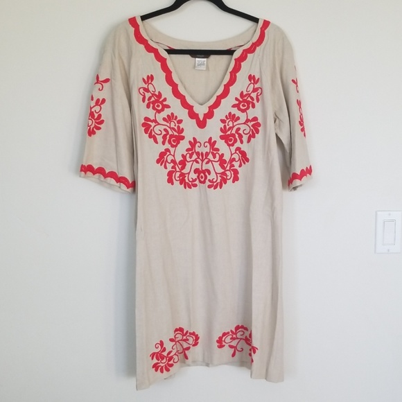Dresses & Skirts - Mexican Embroidered Linen Dress